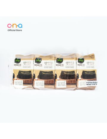 CJ BIBIGO Savory Roasted Korean-Style Seasoned Seaweed Set of 8