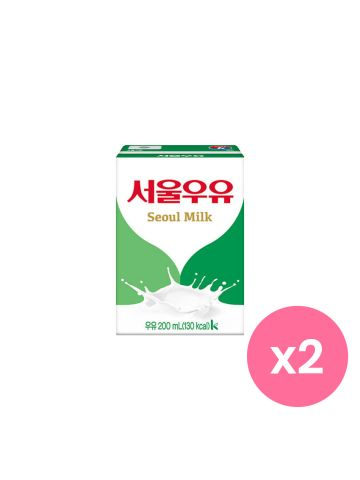 SEOUL MILK Korean Drink Set of 2 (Original)