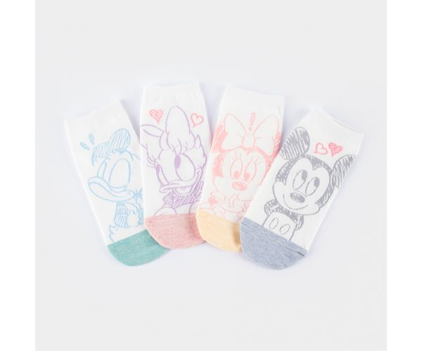 Disney Pastel Sketch Women's Ankle Socks