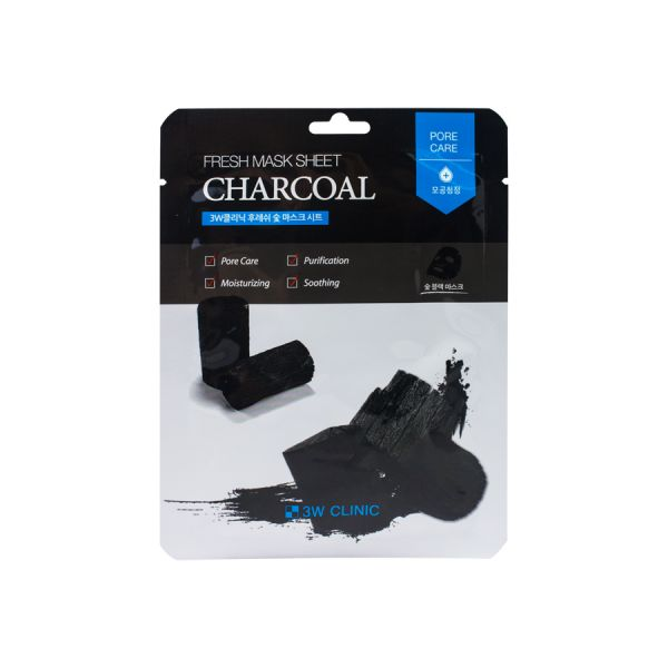 3W CLINIC Charcoal Face Mask