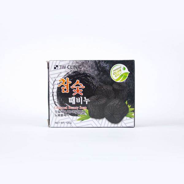 3W Clinic Charcoal Beauty Soap