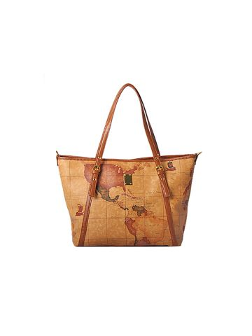 GNB Sohee Map Leather Tote Bag (8290)