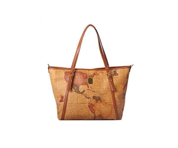 Giles N Brooks Map Tote Bag (8290)