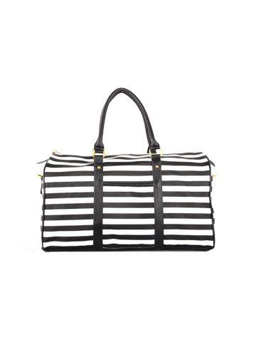 GNB Hyomin Stripes Leather Travel Bag (8347)