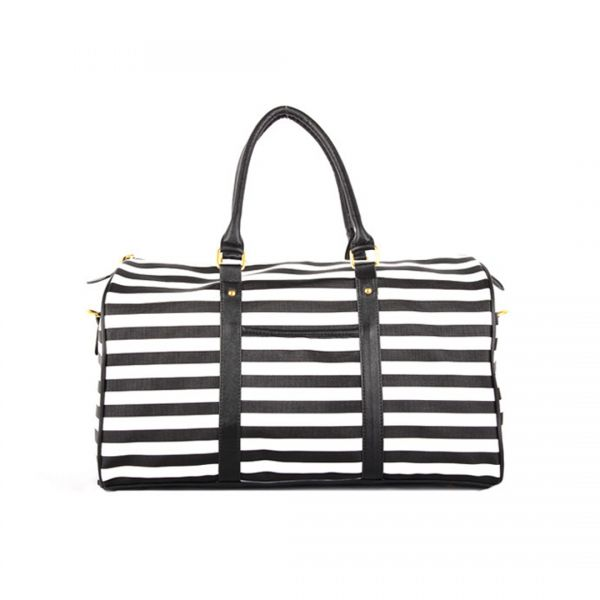 Giles N Brooks Fashion Stripe Duffel Bag (8347)