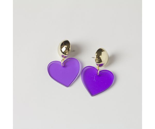 Cool Heart Drop Acrylic Dangle Earrings