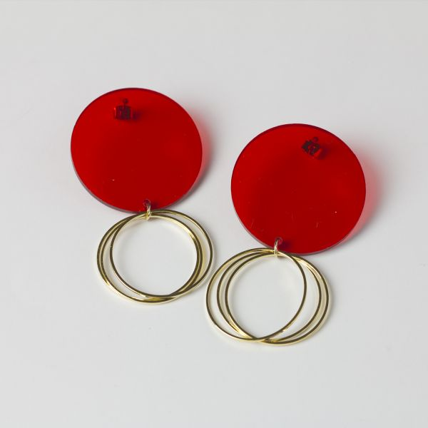 Cool Circle Drop Acrylic Dangle Earrings