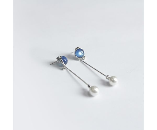 Pearl Drop Dangle Earrings (2)