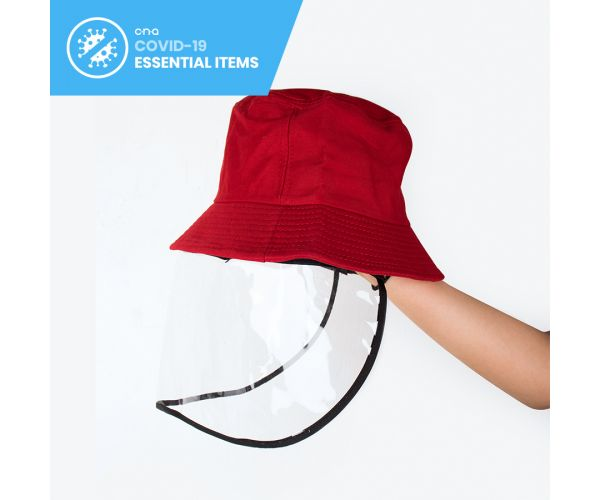 Bucket Hat with Detachable Face Shield