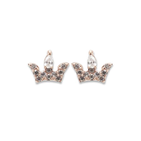 Mini Crown Crystal Earring