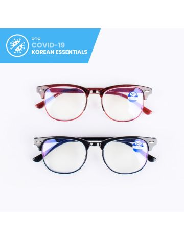 Bobby Glossy Clubmaster Anti-Blue Light Eyeglasses (with Free Case & Cloth)