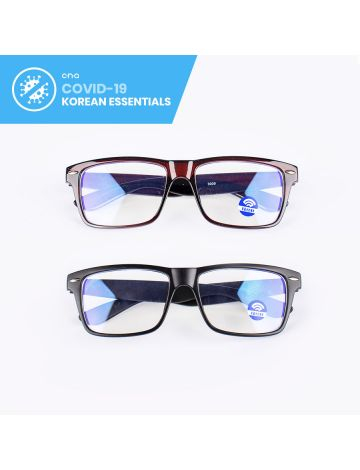 Donghyuk Glossy Wayfarer Anti-Blue Light Eyeglasses (with Free Case & Cloth)