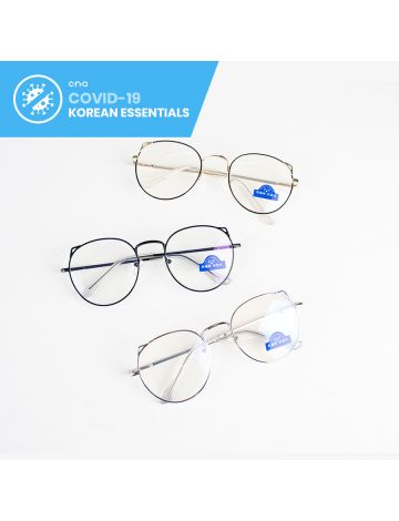 Kyungsoo Round Anti-Blue Light Eyeglasses (with Free Case & Cloth)