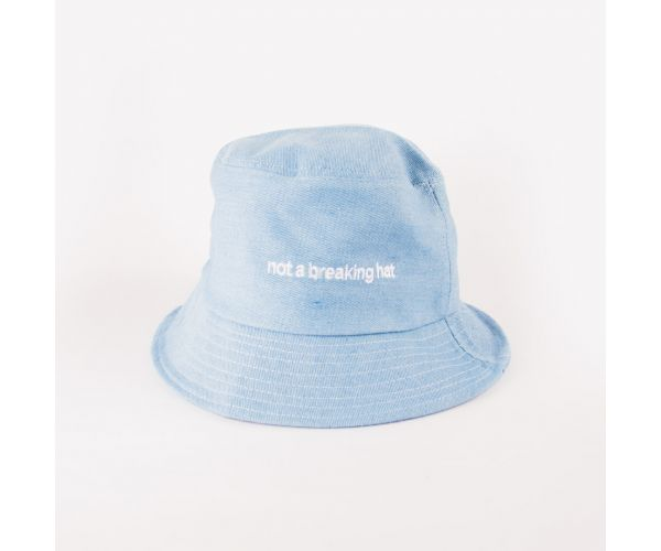 Haejin Plain Statement Denim Bucket Hat