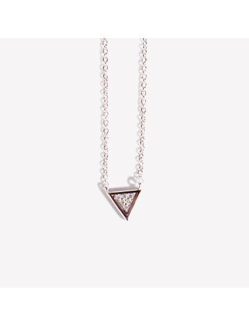 Harin Silver Triangle Studded Necklace