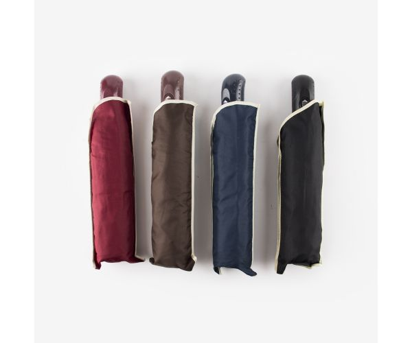 3 Fold Plain Automatic Umbrella