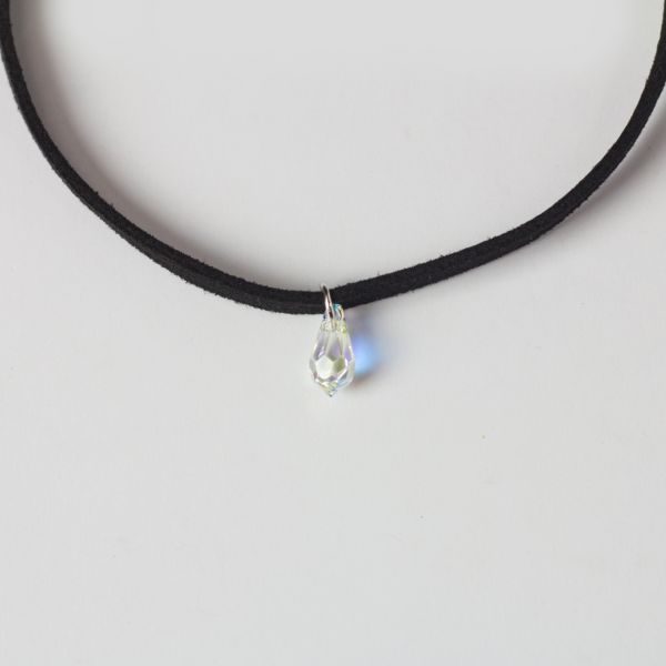 Crystal Teardrop Choker Necklace