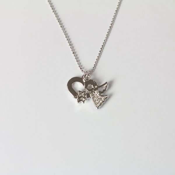 Angel Heart Ball Chain Necklace