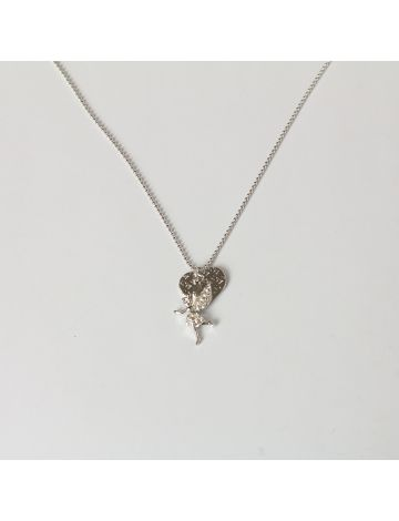 Fairy Heart Ball Chain Necklace