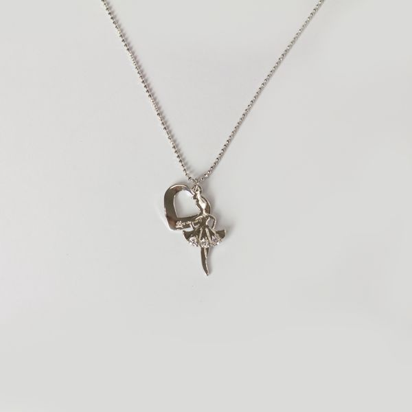 Ballerina Love Ball Chain Necklace
