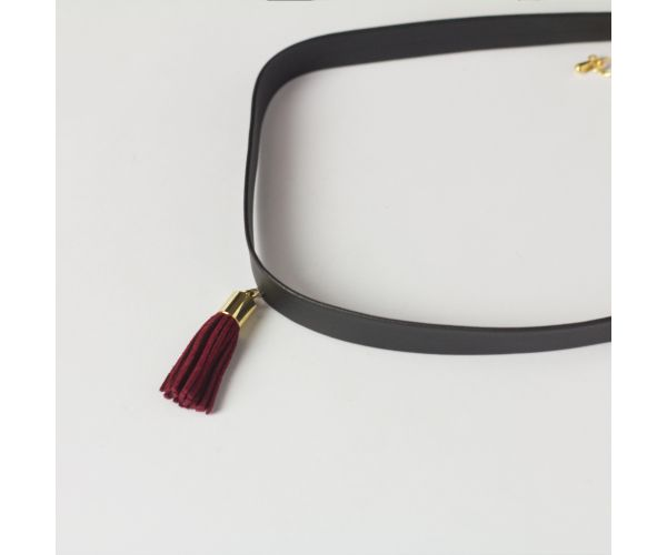 Suede Tassel Choker Necklace (with Free Jewelry Box)
